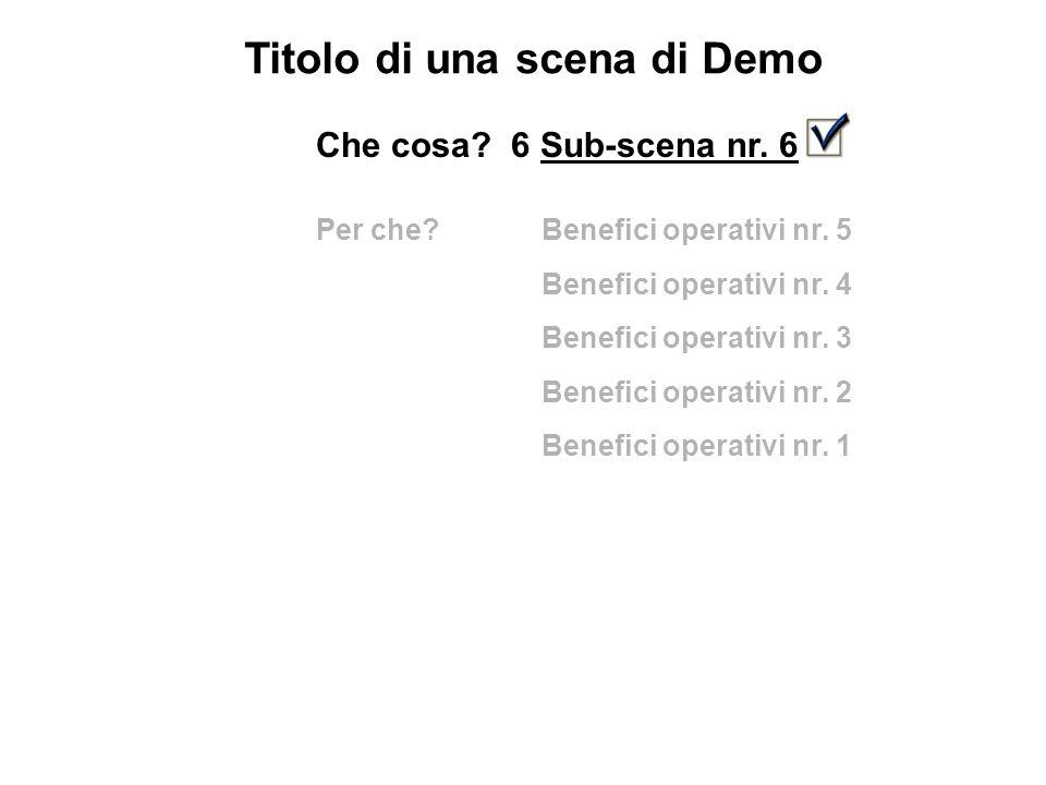 Titolo di una scena di Demo Che cosa. 6 Sub-scena nr.