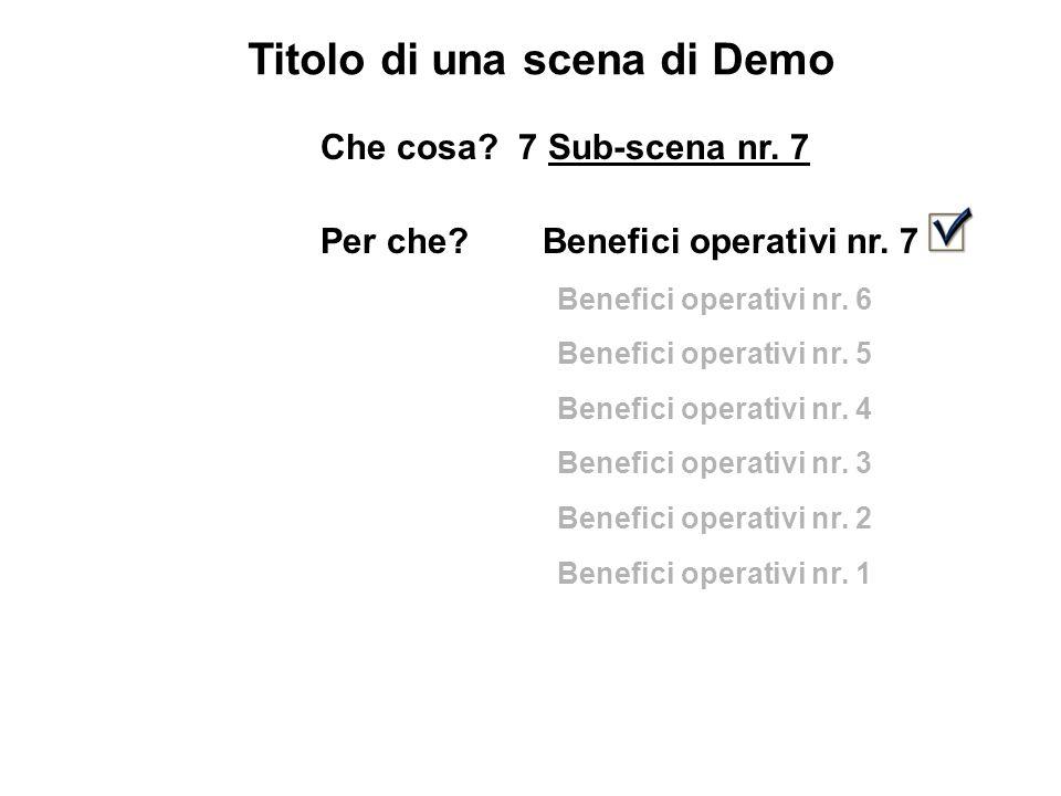 Titolo di una scena di Demo Che cosa. 7 Sub-scena nr.