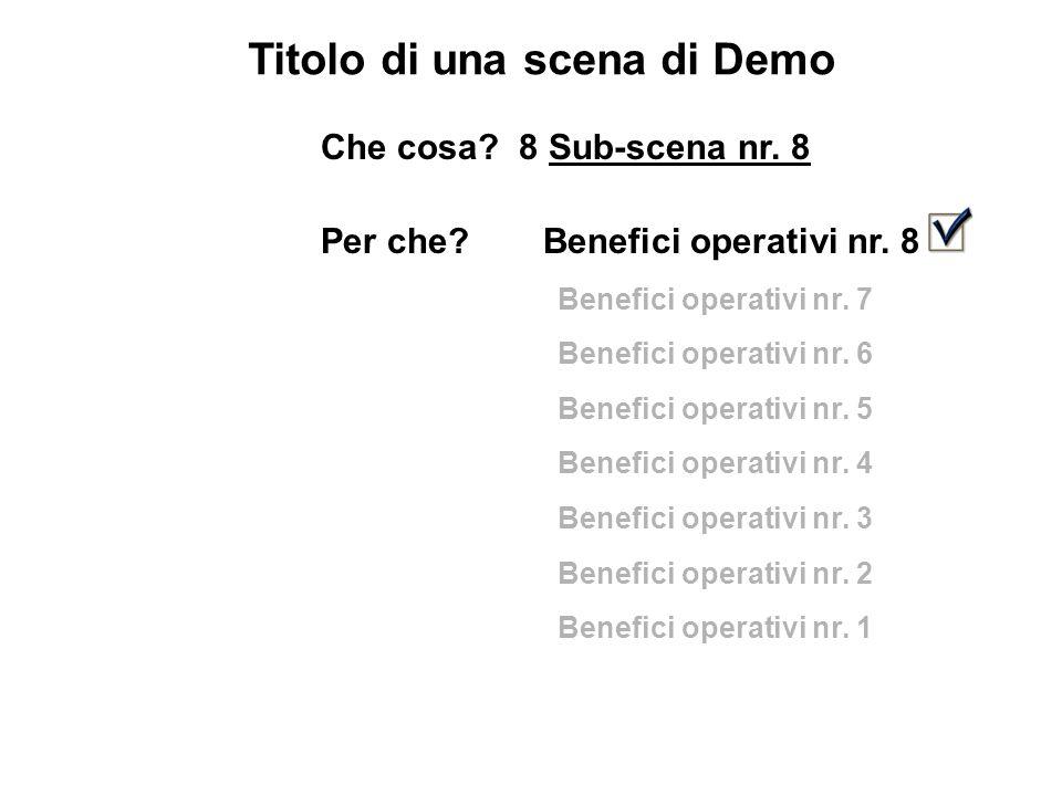 Titolo di una scena di Demo Che cosa. 8 Sub-scena nr.
