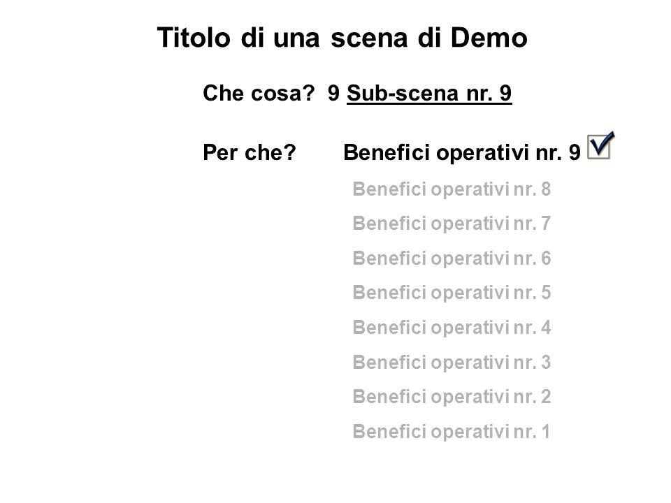 Titolo di una scena di Demo Che cosa. 9 Sub-scena nr.