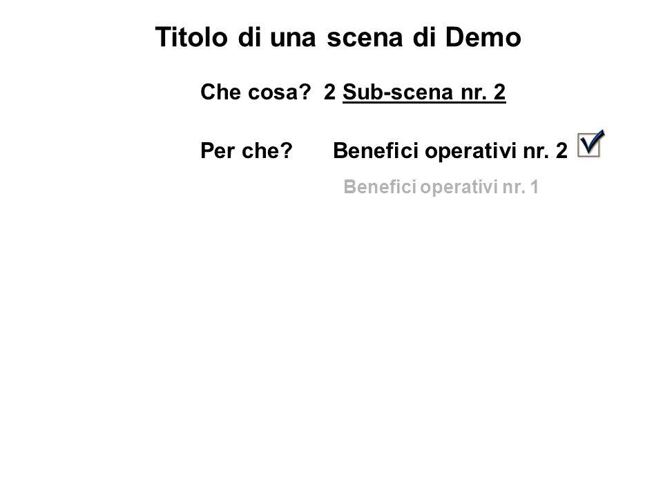 Titolo di una scena di Demo Che cosa. 2 Sub-scena nr.