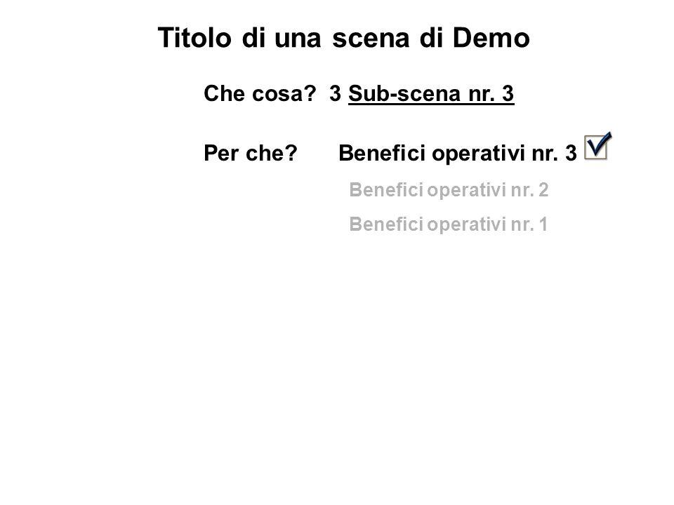 Titolo di una scena di Demo Che cosa. 3 Sub-scena nr.