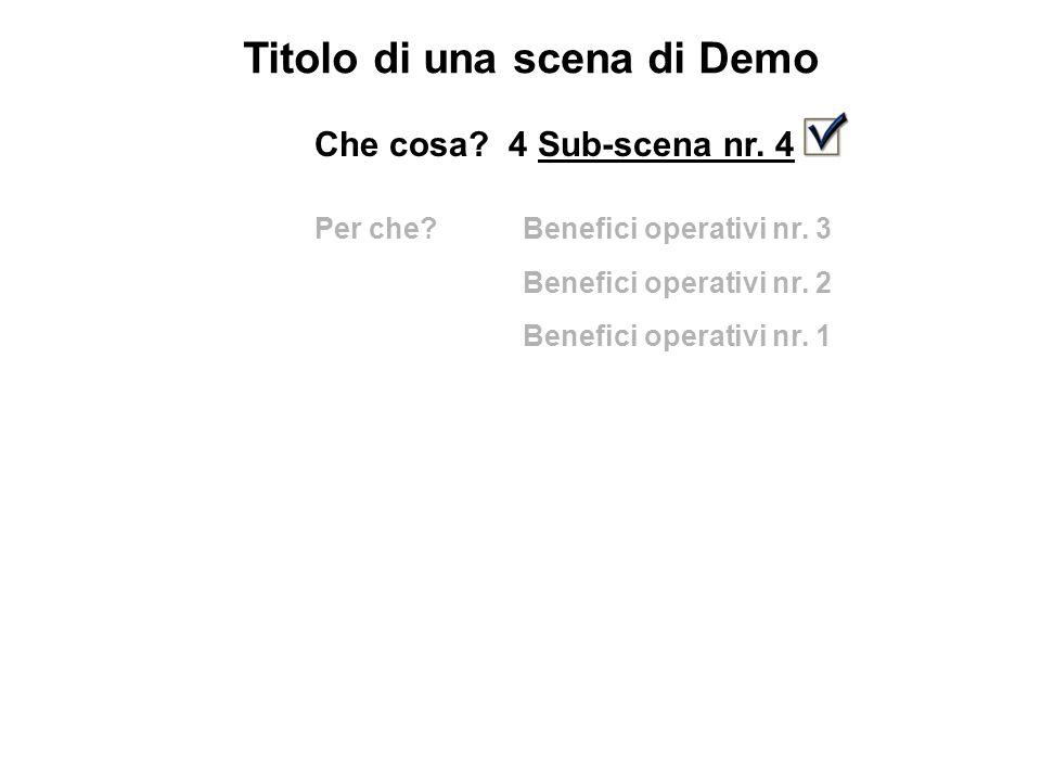 Titolo di una scena di Demo Che cosa. 4 Sub-scena nr.