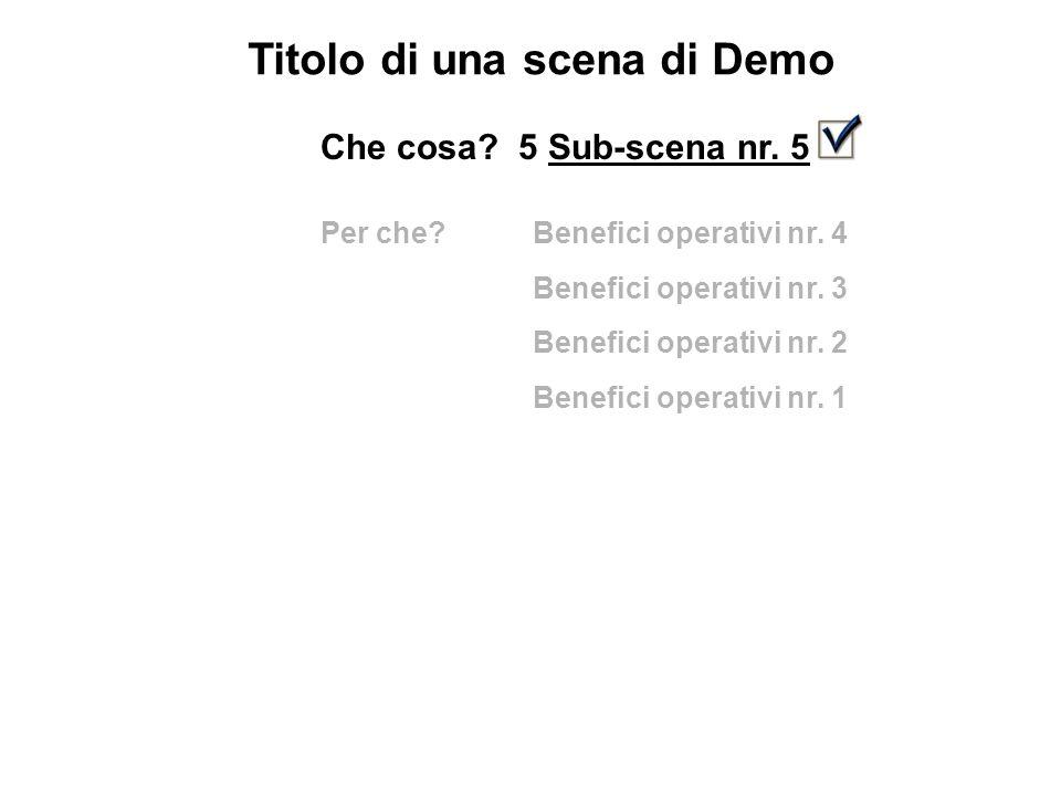 Titolo di una scena di Demo Che cosa. 5 Sub-scena nr.