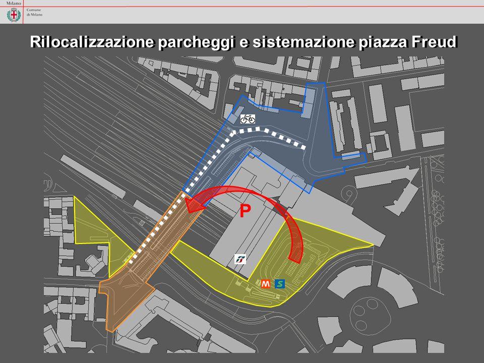 Rilocalizzazione parcheggi e sistemazione piazza Freud P