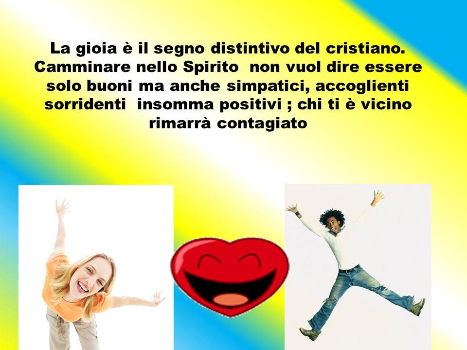 Chi è pieno di Spirito Santo ha la pace di Gesù nel cuore quindi ha pensieri, parole e gesti di pace.