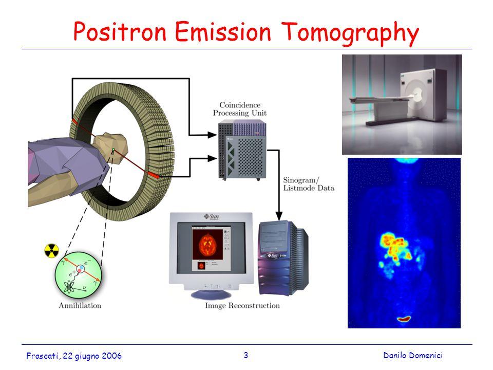 3Danilo Domenici Frascati, 22 giugno 2006 Positron Emission Tomography