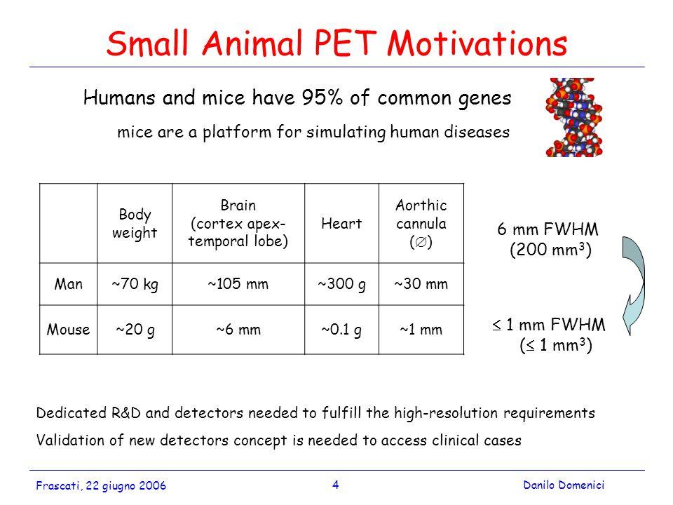 5Danilo Domenici Frascati, 22 giugno 2006 How to improve PET.