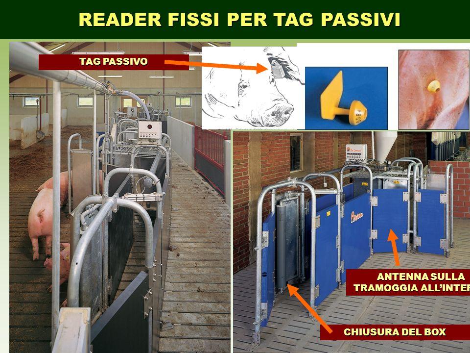 READER FISSI PER TAG PASSIVI TAG PASSIVO CHIUSURA DEL BOX ANTENNA SULLA TRAMOGGIA ALL'INTERNO