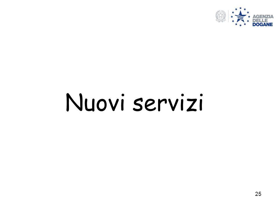 25 Nuovi servizi