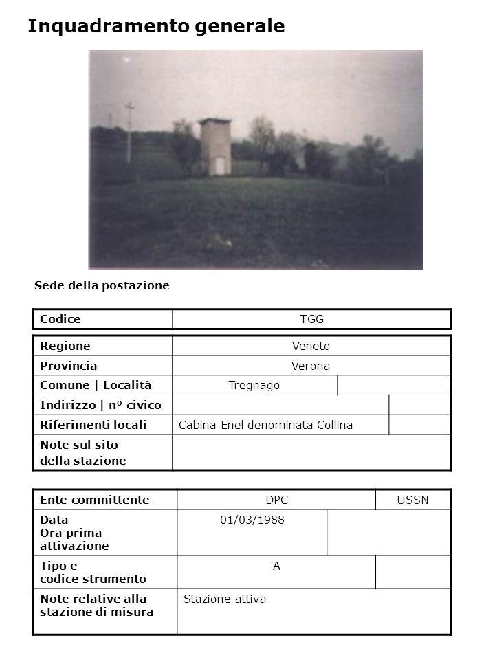 Sede della postazione CodiceTGG Ente committenteDPCUSSN Data Ora prima attivazione 01/03/1988 Tipo e codice strumento A Note relative alla stazione di