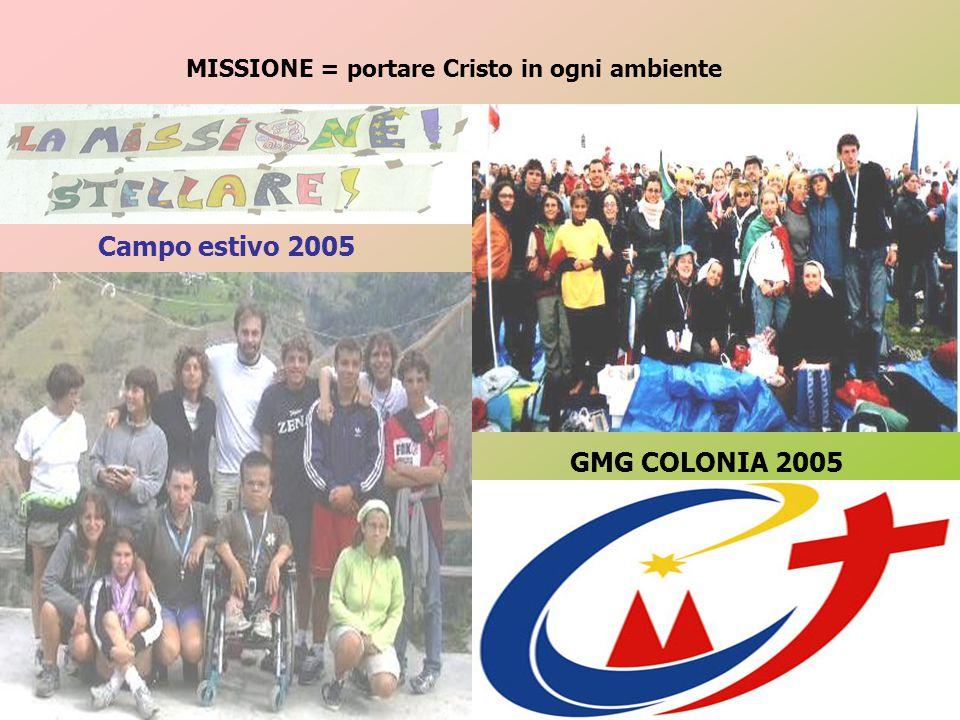 MISSIONE = portare Cristo in ogni ambiente Campo estivo 2005 GMG COLONIA 2005