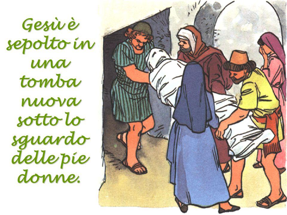 Gesù muore e la Vergine piange dal dolore. Gesù, dammi il dolore dei miei peccati e fa' che non ti offenda più.