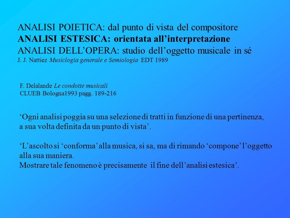 F. Delalande Le condotte musicali CLUEB Bologna1993 pagg.