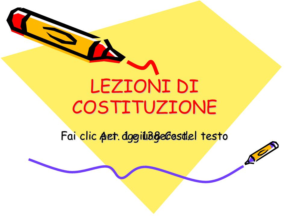 Lezioni di Costituzione Art.
