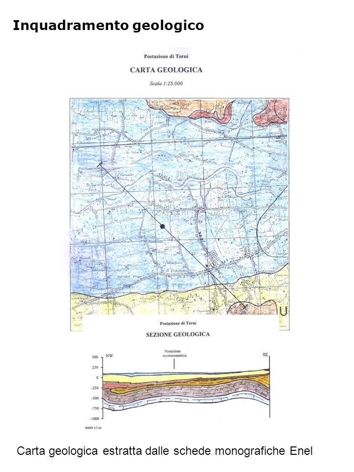 Inquadramento geologico Carta geologica estratta dalle schede monografiche Enel