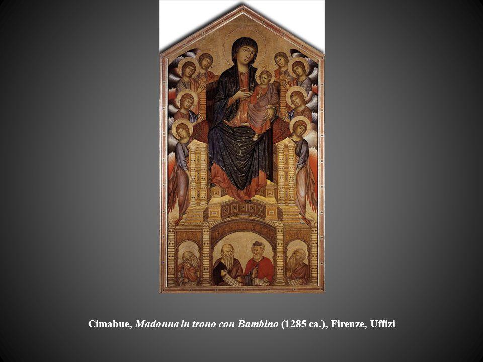 Cimabue, Madonna in trono con Bambino (1285 ca.), Firenze, Uffizi