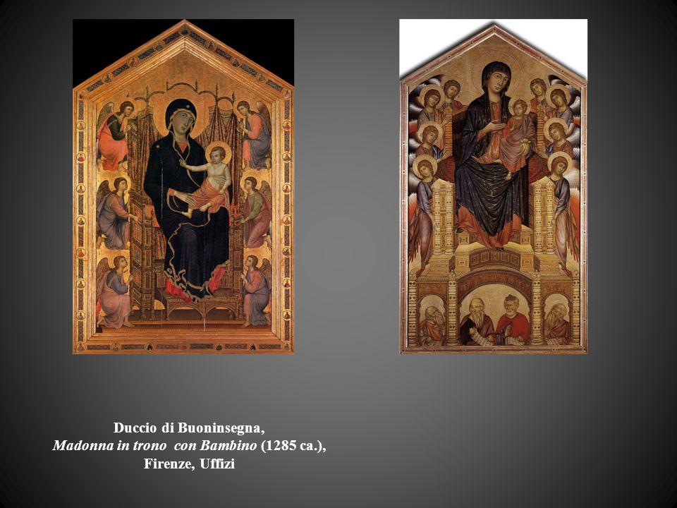 Duccio di Buoninsegna, Madonna in trono con Bambino (1285 ca.), Firenze, Uffizi