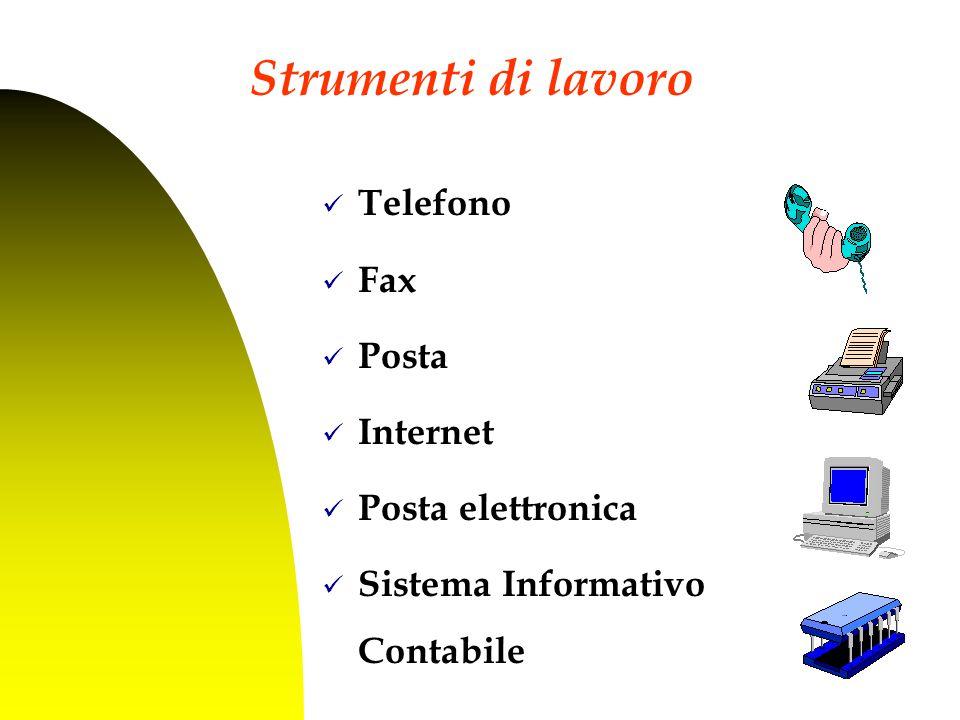 Telefono Fax Posta Internet Posta elettronica Sistema Informativo Contabile 2.