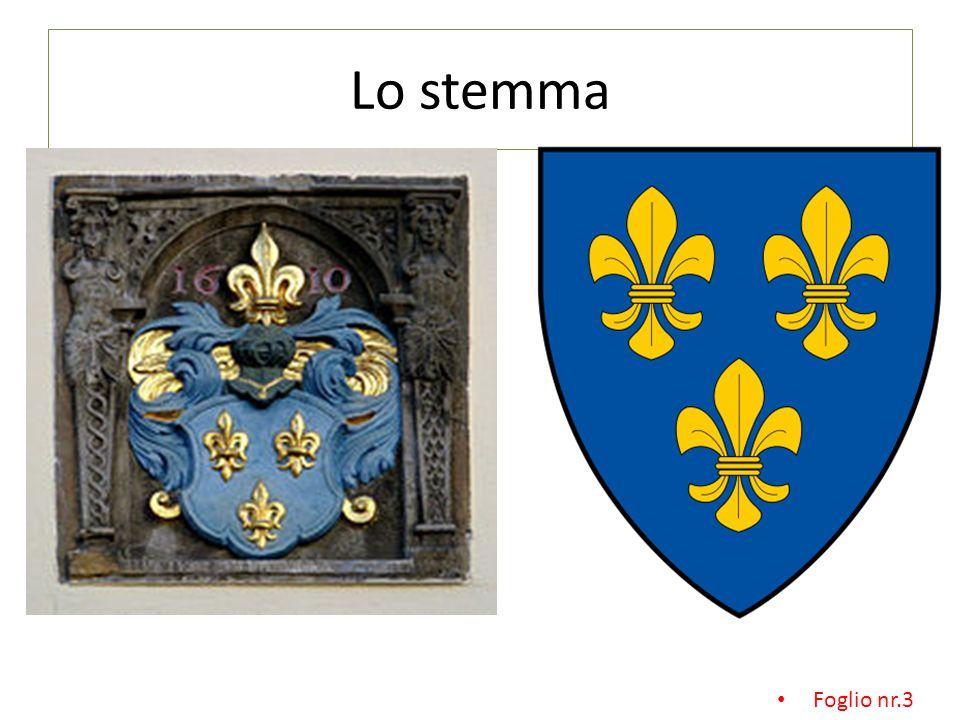 Lo stemma Foglio nr.3