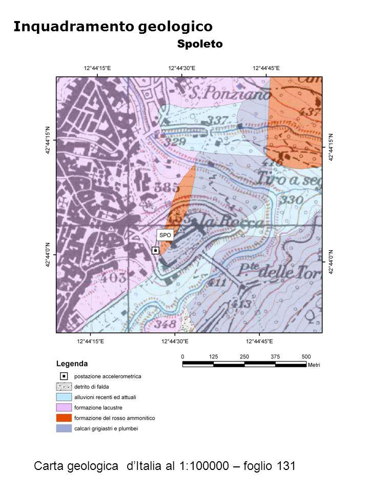 Inquadramento geologico Carta geologica d'Italia al 1:100000 – foglio 131