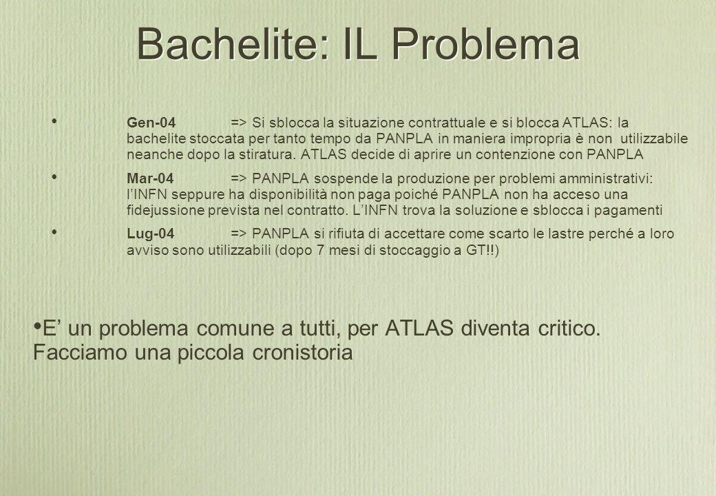 Bachelite: IL Problema E' un problema comune a tutti, per ATLAS diventa critico.