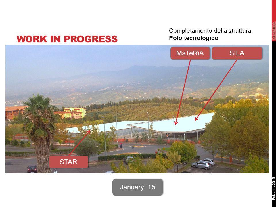 Febbraio 2015 WORK IN PROGRESS STAR MaTeRiA SILA January '15 Completamento della struttura Polo tecnologico