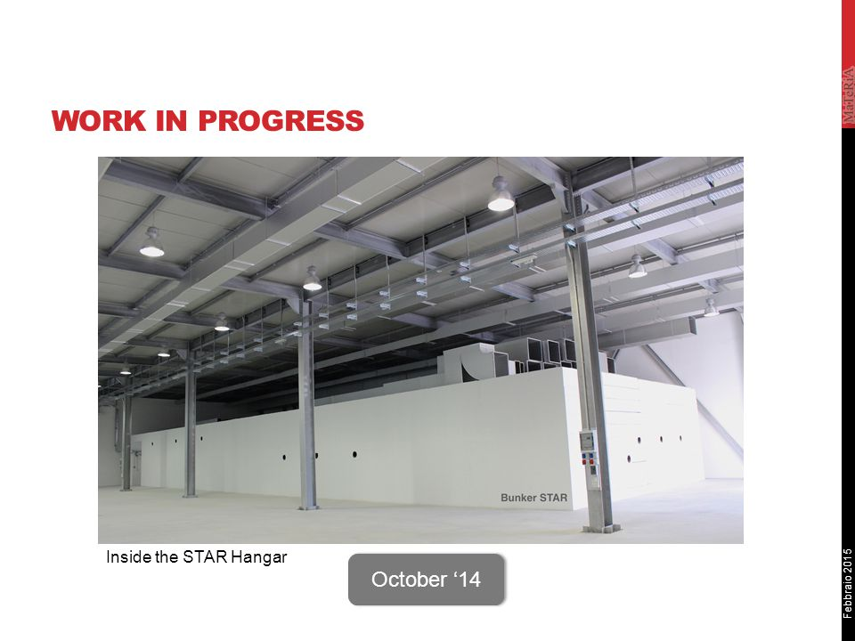 Febbraio 2015 WORK IN PROGRESS Sito STAR October '14 Inside the STAR Hangar