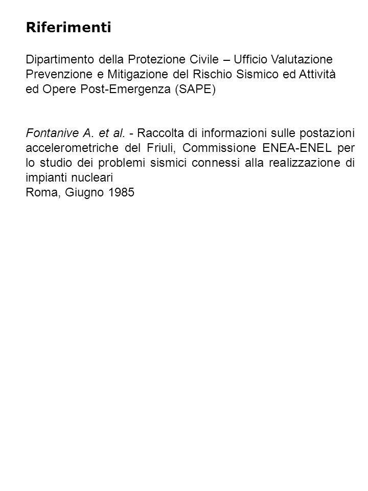 Riferimenti Fontanive A. et al.