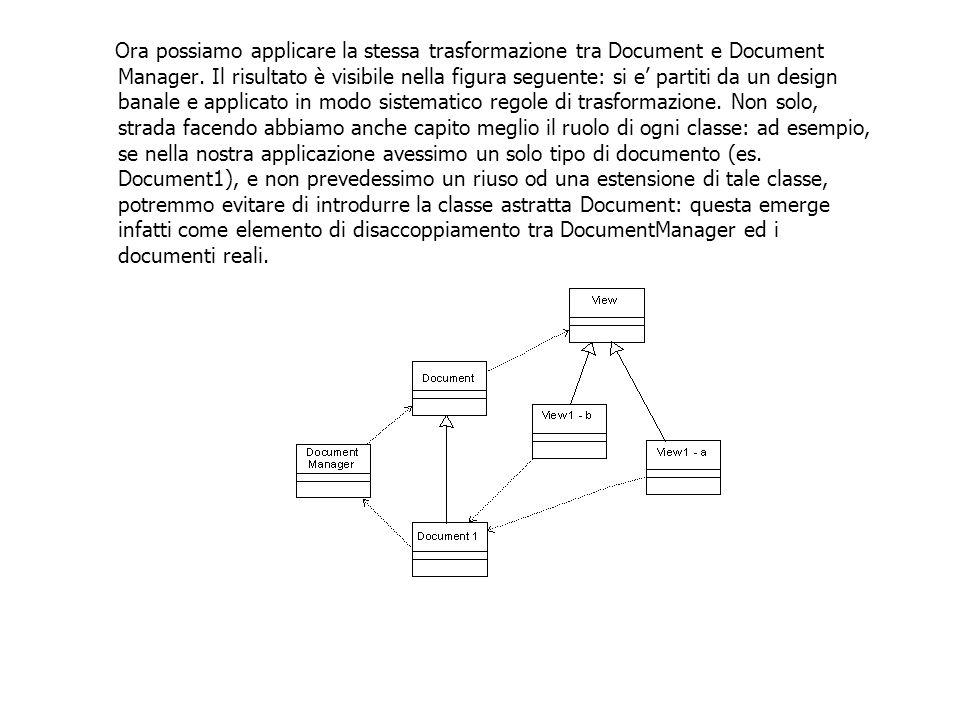 Ora possiamo applicare la stessa trasformazione tra Document e Document Manager.