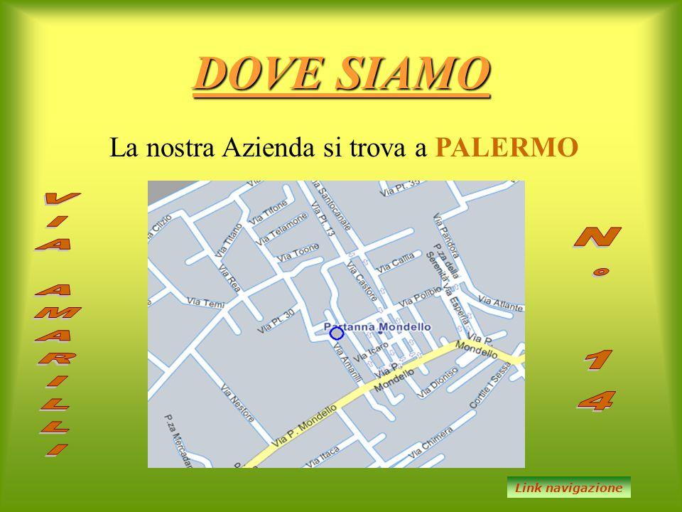 DOVE SIAMO La nostra Azienda si trova a PALERMO Link navigazione