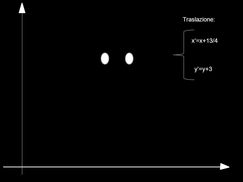 Traslazione: x'=x+13/4 y'=y+3
