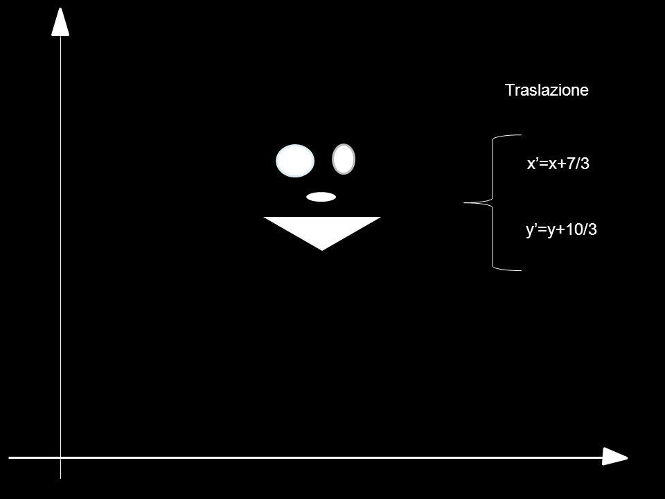 Traslazione x'=x+7/3 y'=y+10/3