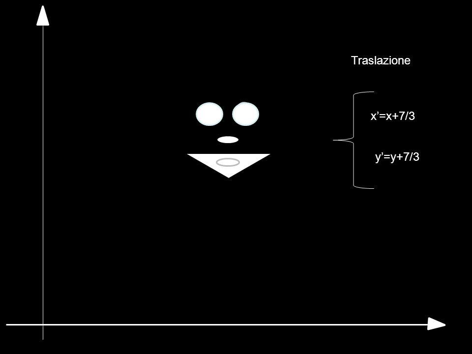 Traslazione x'=x+7/3 y'=y+7/3