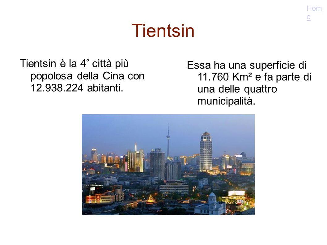 Tientsin Tientsin è la 4° città più popolosa della Cina con 12.938.224 abitanti. Essa ha una superficie di 11.760 Km² e fa parte di una delle quattro