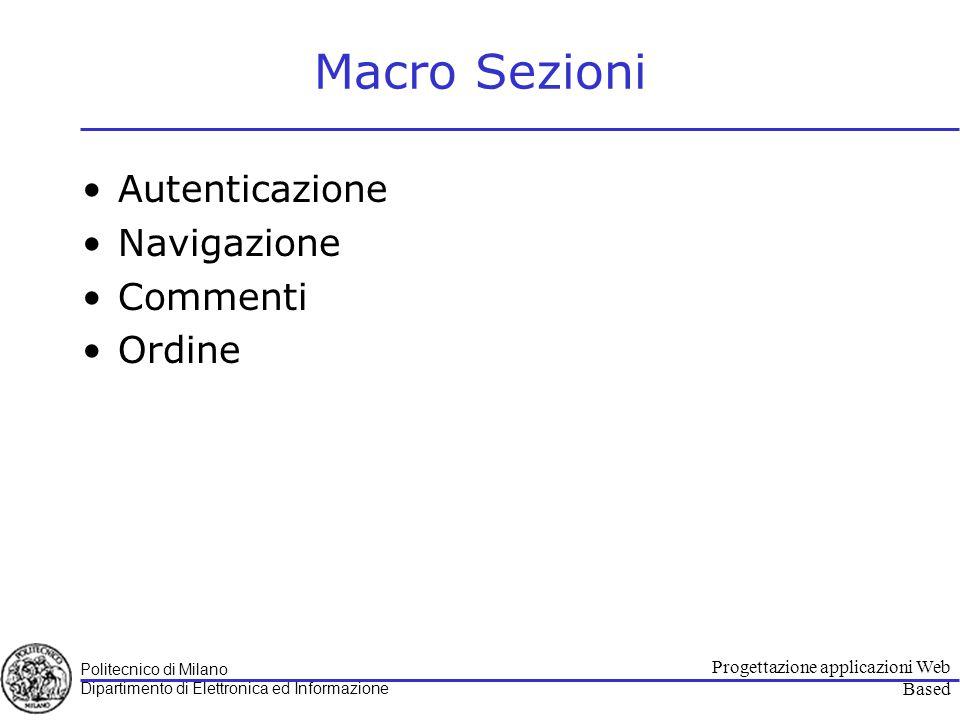 Politecnico di Milano Dipartimento di Elettronica ed Informazione Progettazione applicazioni Web Based Autenticazione Use case Diagram