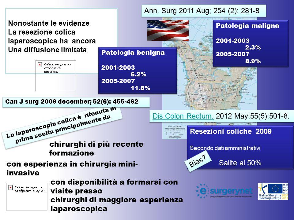 Patologia maligna 2001-2003 2.3% 2005-2007 8.9% Patologia maligna 2001-2003 2.3% 2005-2007 8.9% Resezioni coliche 2009 Secondo dati amministrativi Sal
