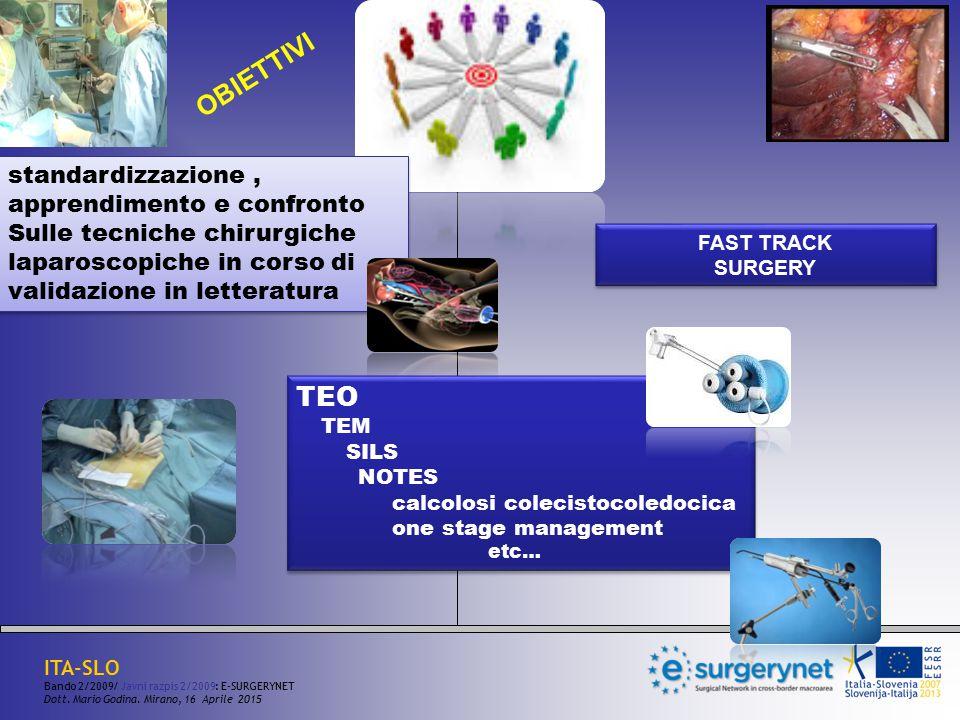 standardizzazione, apprendimento e confronto Sulle tecniche chirurgiche laparoscopiche in corso di validazione in letteratura standardizzazione, appre