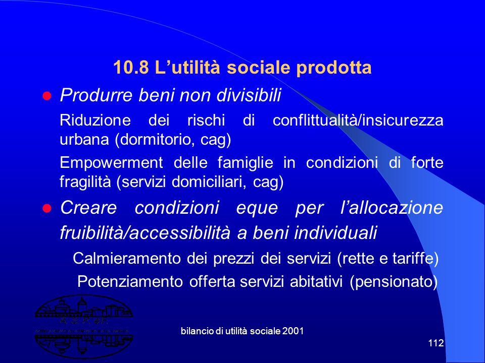 bilancio di utilità sociale 2001 111 Area minori Predisposizione condizioni di gestione integrata dei servizi cag e domiciliare minori, sulla base di