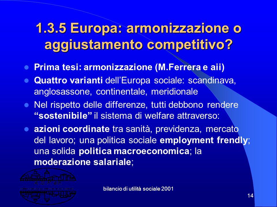 """bilancio di utilità sociale 2001 13 1.3.4 Riforma """" strisciante """" del mercato del Lavoro Collaborazioni Coordinate e Continuative ( Co.Co.Co. ) Lavoro"""