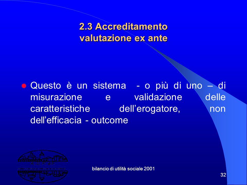 bilancio di utilità sociale 2001 31 2.2 Come si misura la ricaduta del nostro operare ? In termini economici In termini di consenso politico In termin