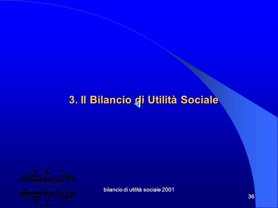 bilancio di utilità sociale 2001 35 2.6 Elementi di valutazione economica Measurament of Health State Utilities for Economic Appraisal Input Costi uti