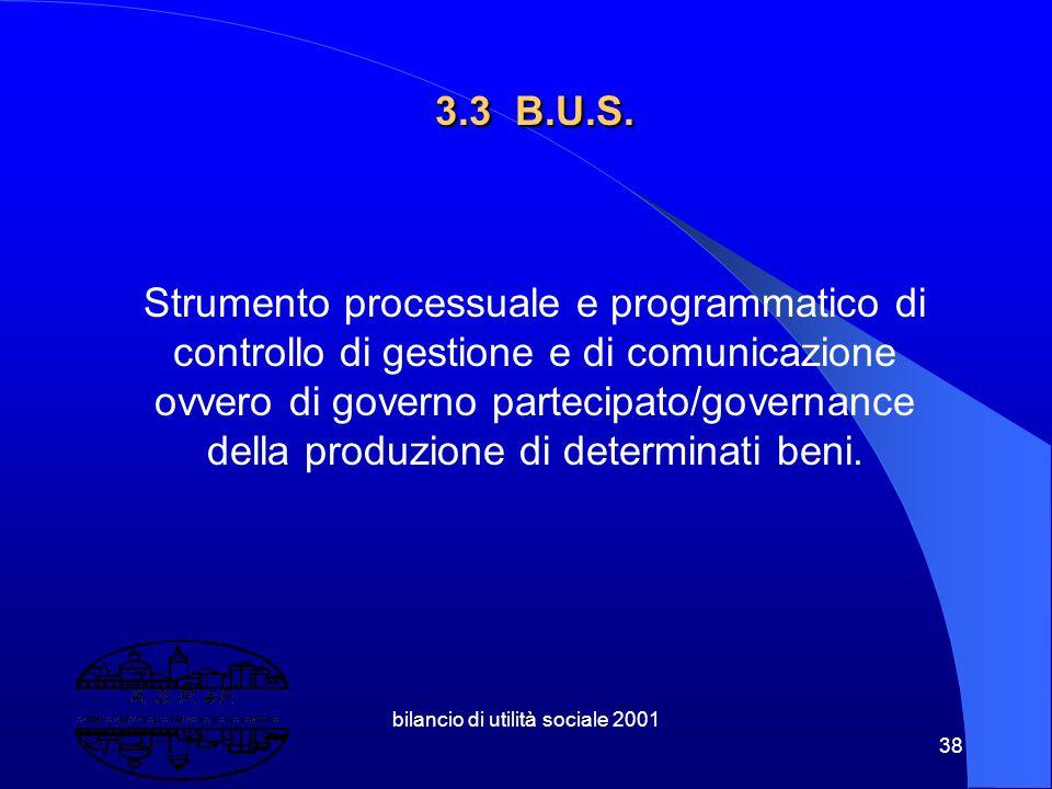 """bilancio di utilità sociale 2001 37 3.2 Elementi introduttivi al concetto di Bilancio Sociale """" Un'attenzione particolare a tutti gli interlocutori de"""