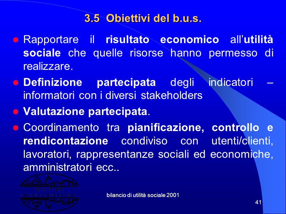 """bilancio di utilità sociale 2001 40 """"Certificazione"""" ( di qualità..vision 2000..) """"Carta dei Valori"""" """"Inventario Sociale"""" ( bilan social francese) """"Ma"""