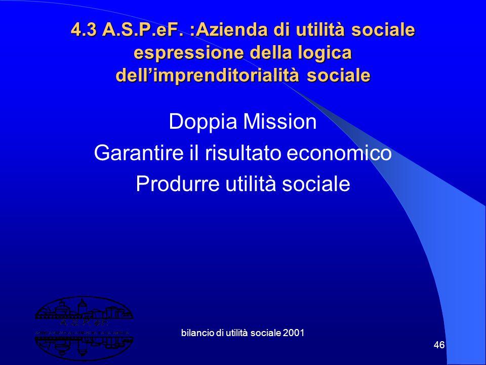 bilancio di utilità sociale 2001 45 4.2 La mercatizzazione dei servizi di welfare: come coniugare solidarietà e libertà? Dal com-petere al co-operare,
