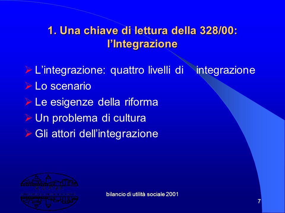 bilancio di utilità sociale 2001 47 4.4 Azienda Sociale o di Utilità Sociale.