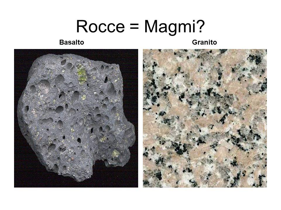 Rocce = Magmi? BasaltoGranito