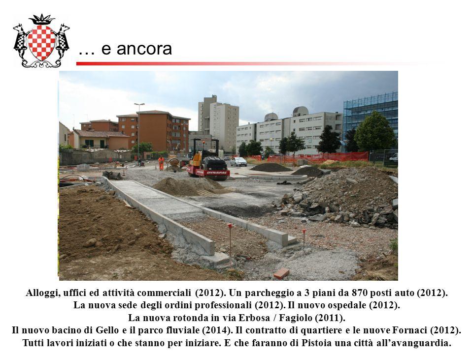 … e ancora Alloggi, uffici ed attività commerciali (2012). Un parcheggio a 3 piani da 870 posti auto (2012). La nuova sede degli ordini professionali