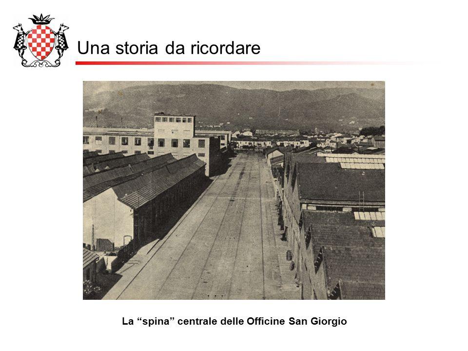 """Una storia da ricordare La """"spina"""" centrale delle Officine San Giorgio"""