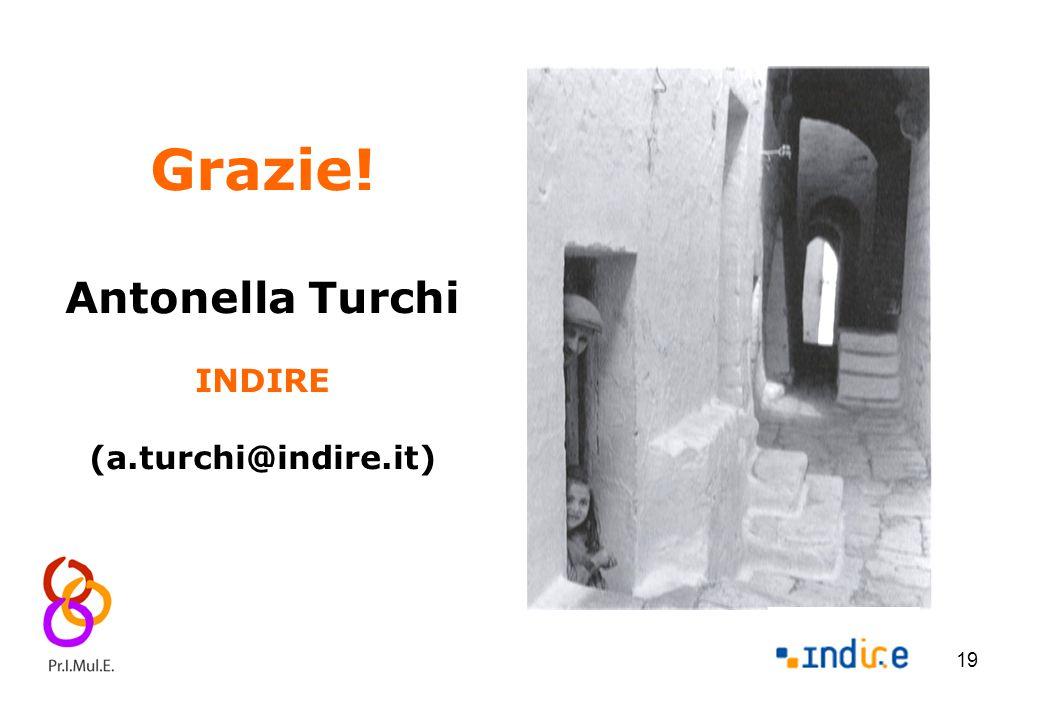 19 Grazie! Antonella Turchi INDIRE (a.turchi@indire.it)
